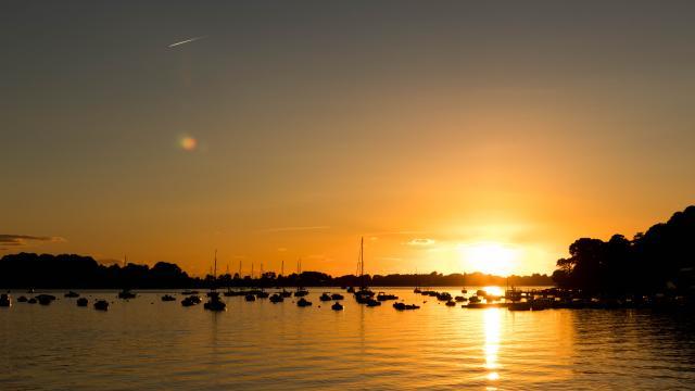 Coucher de soleil sur le Port d'Arradon