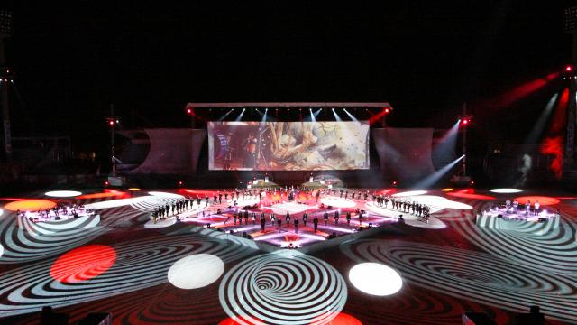 Les nuits magiques, au stade du Moustoir, Festival Interceltique de Lorient