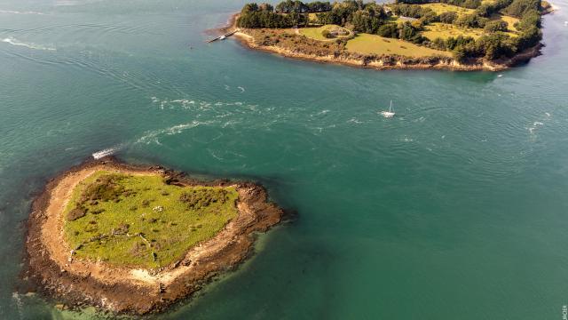 Golfe du Morbihan - vue aerienne