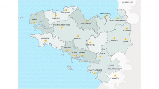 Carte Destination Bretagne
